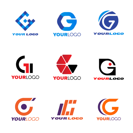 company background: Letter G logo vector set design
