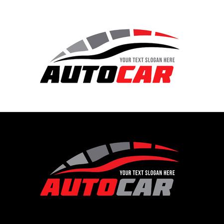 diseño del logotipo del vector gris negro rojo auto coche