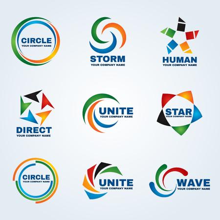 logotipo del círculo, diseño del arte del vector para el negocio Logos