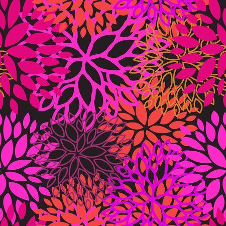 Rosa violette Farbe floral nahtlose Muster Vektor-Design