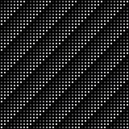 black background abstract: Vector geometric seamless pattern. Repeating abstract square gradation in black and grey.