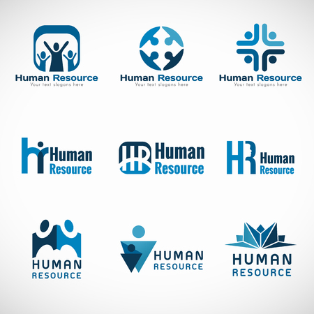 hr: Human resources (HR) vector set design for Business