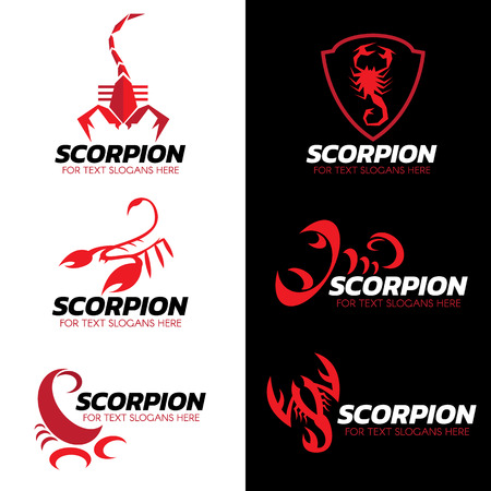 Red Scorpion logo vector set art design