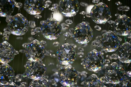 diamond background: Diamond crystal glass ball bright abstract background