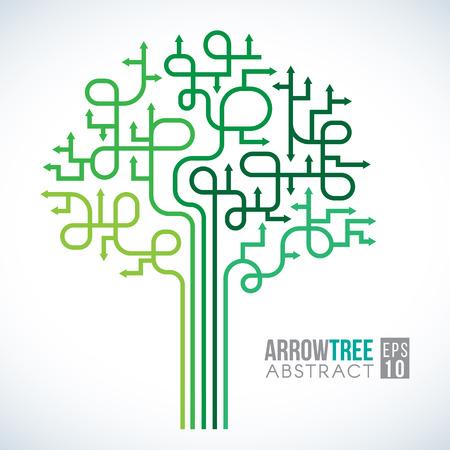 green arrow: Green Arrow tree Symbols abstract vector design