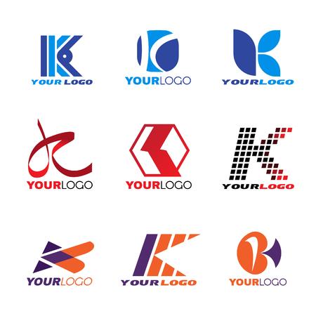 Letter K logo vector set design