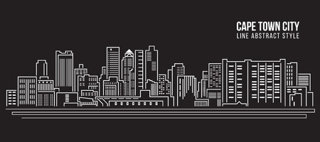 cape: Cityscape Building Line art Illustration design - cape town city Illustration