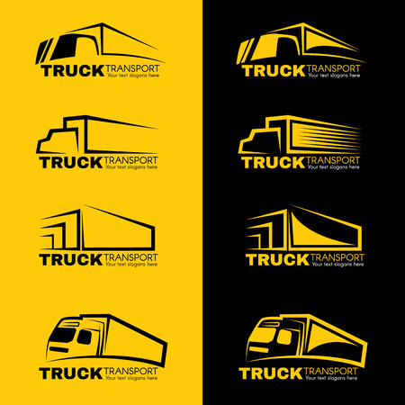 Black and yellow truck transport