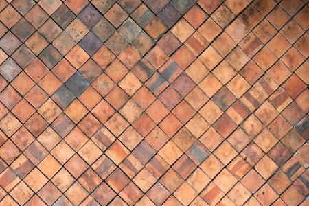 Terrakotta-Fliesen Wand für abstrakte Textur Hintergrund