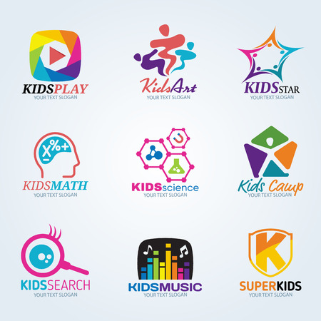 group of kids: Kids child for art and summer camp  set design