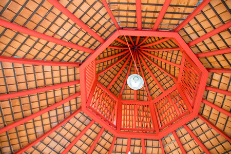 dome: Top view octagon roof structure abstract style
