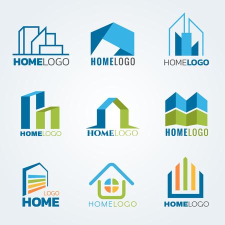 Logo arte moderno y de diseño conjunto de vectores Foto de archivo - 58012271