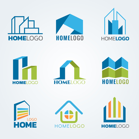 Moderne en kunst Huis logo vector set ontwerp