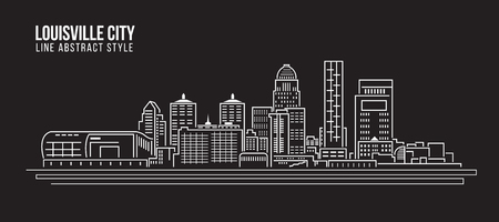 louisville: Cityscape Building Line art Vector Illustration design - Louisville City