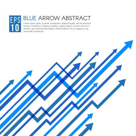 Ligne bleue de vecteur flèche haut pointu abstrait Vecteurs