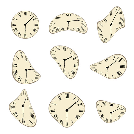 cartoon clock: Classic Wall Clock distorted set design