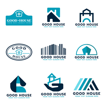 House set design Illustration