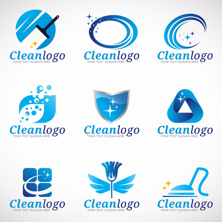 carpet cleaning service design: Clean and Housekeeping service set design