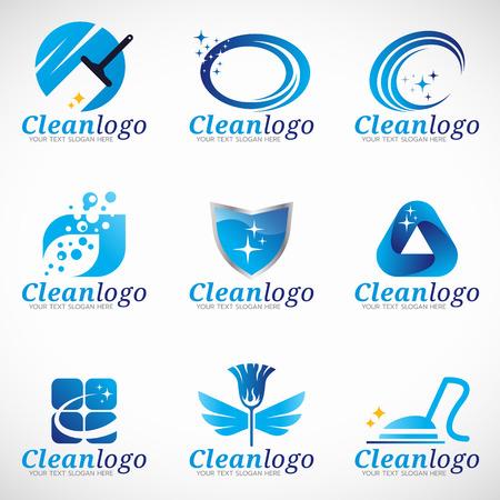 servicio domestico: diseño limpio y de conjunto de servicios de limpieza