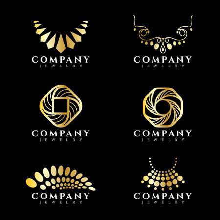 joyas de oro y el sistema del collar de diseño