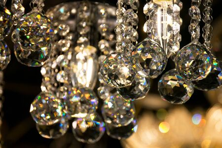 crystal chandelier: Close up Beautiful luxury Crystal Chandelier Lighting