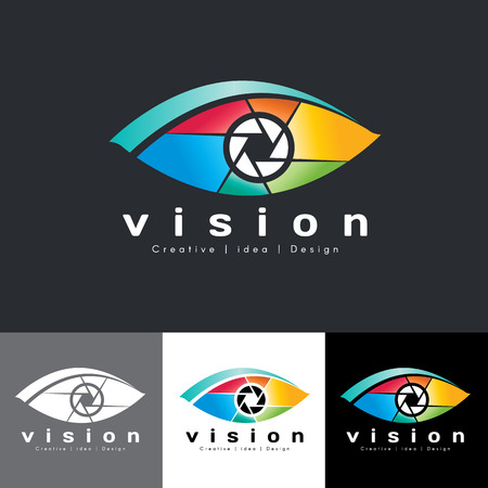 our vision: Eye vision icon - colorful tone is mean vision creative idea and design