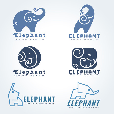 elephant icon: Elephant icon sign illustration set design