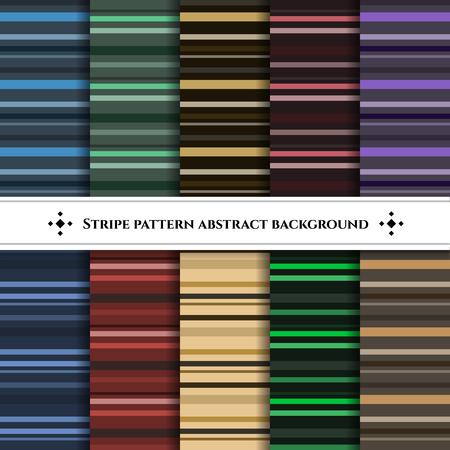 horizontal line: Stripe horizontal line pattern set abstract background Illustration