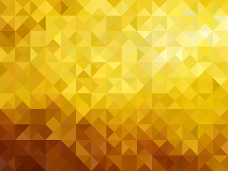 holographic: Gold low poly triangle sharp abstract background vector illustration design Illustration
