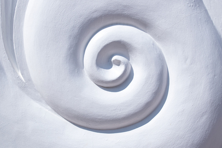 ratio: Close up White spiral wall abstract background