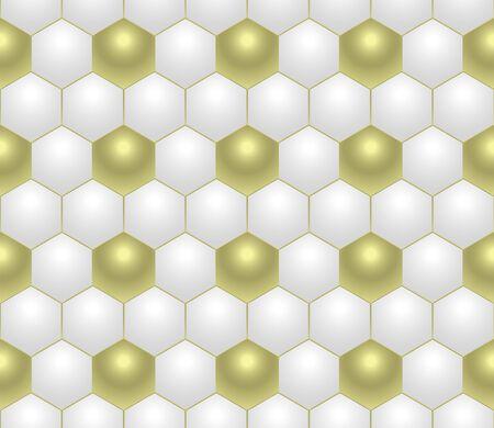 brasil: Gold and white football soccer texture vector design