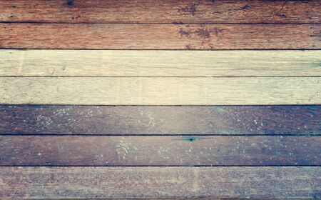 wood wall texture: Gray white brown wood wall texture background - vintage filter style