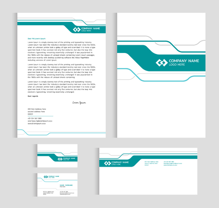 Layout template size a4 cover page business card and letter layout template size a4 cover page business card and letter green line sharp abstract friedricerecipe Image collections