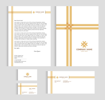 Layout template size a4 cover page business card and letter layout template size a4 cover page business card and letter bamboo weaving cross vector accmission Images
