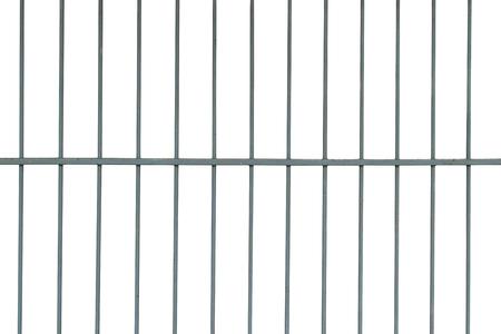 スティール ・ ケージを白い背景を分離します。 写真素材