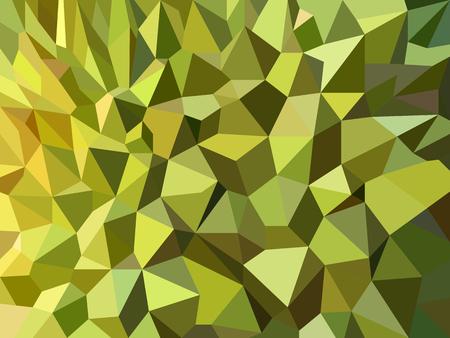 Groen Durian-schil laag poly abstract vectorontwerp als achtergrond