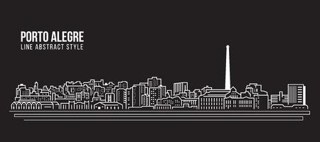 Allineamento di architettura urbano di architettura di vettore di architettura di paesaggio urbano - città di San Marino