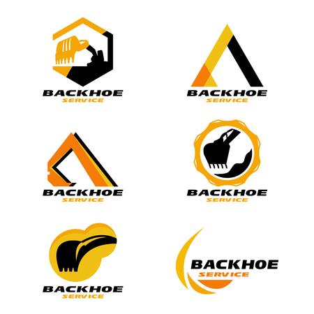 Żółte i czarne kopie zapasowe logo usługi projektowania