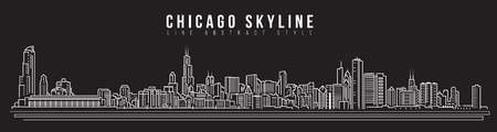Chicago-Skylineillustration. Standard-Bild - 86729124