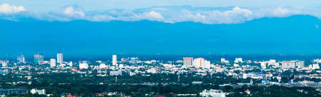 Panorama Skyline Cityscape Building Chiangmai city , thailand Stock Photo