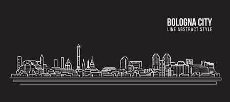 Cityscape Building Line art Vector Illustration design - Bologna city Illusztráció