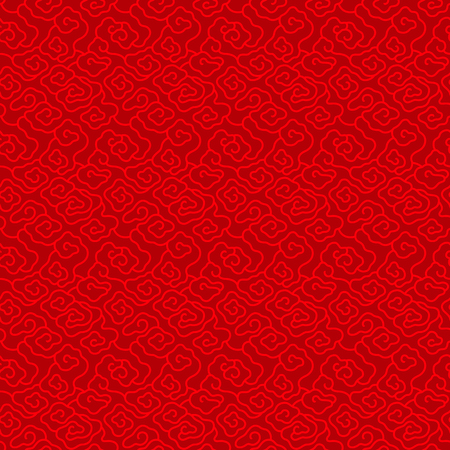 Red Chinese vintage cloud seamless pattern background vector design