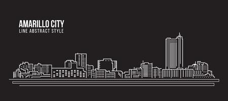 Construcción de construcción de arte de arte de diseño de ilustración vectorial - ciudad amarilla Foto de archivo - 95141233