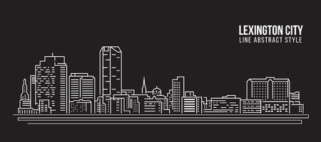 Cityscape Building Line art Vector Illustration design - Lexington city Stock Vector - 95462471