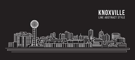 Cityscape Building Line art Vector Illustration design - Knoxville city