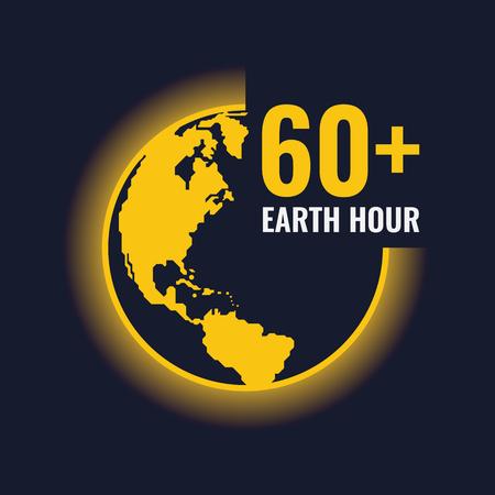 Earth hour vector design  イラスト・ベクター素材