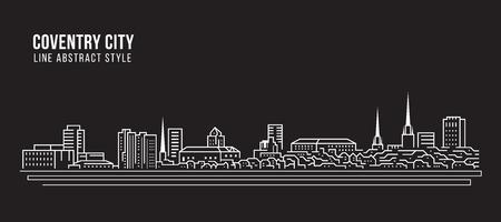 Cityscape Building Line art Vector Illustration design - Coventry city Illustration