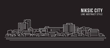 Cityscape Building Line art