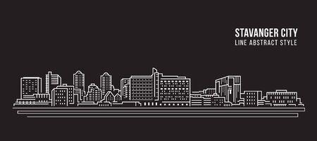 Cityscape Building Line-kunst