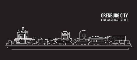 Cityscape Building Line art Vector Illustration design  - Orenburg city